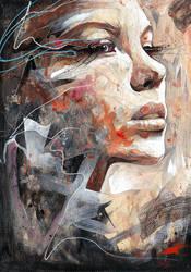 Portrait On Watercolour Paper by ART-BY-DOC