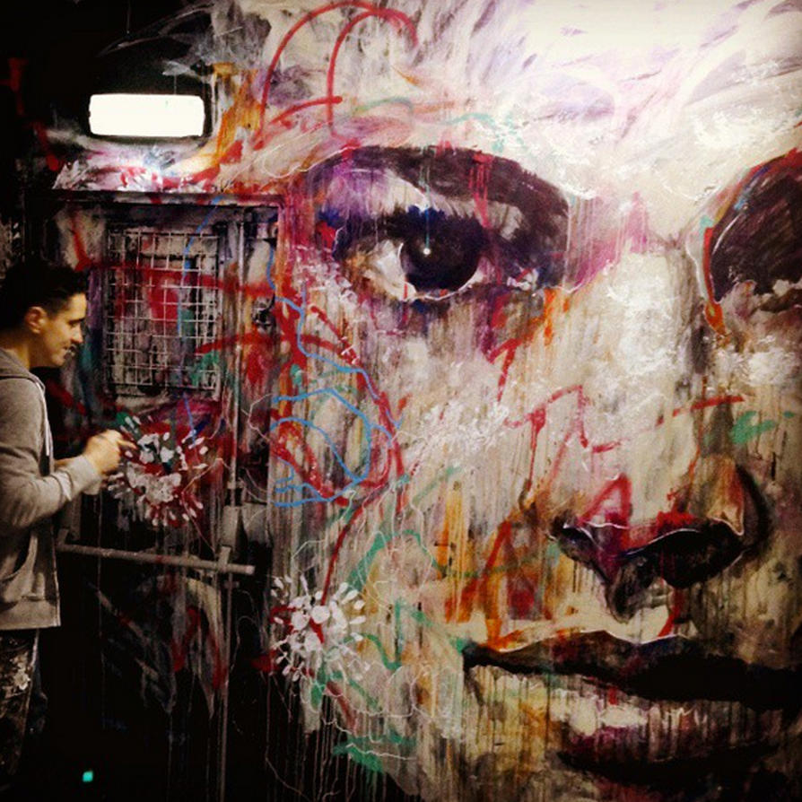 Large Mural Portrait by ART-BY-DOC