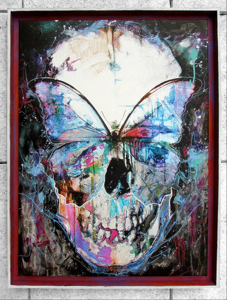 Butterfly Skull Framed by ART-BY-DOC on DeviantArt