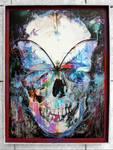 Butterfly Skull Framed