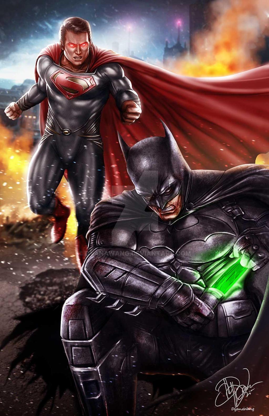 Batman VS Superman By DyanaWang On DeviantArt