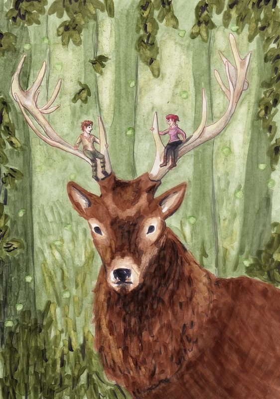 epic deer riding by skogflickan on deviantart