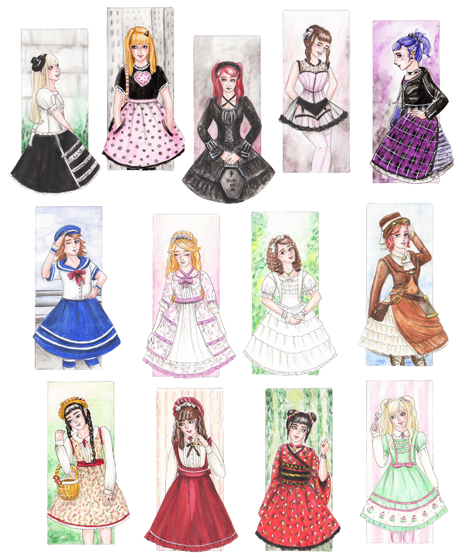 Lolita Fashion Styles By Skogflickan On Deviantart