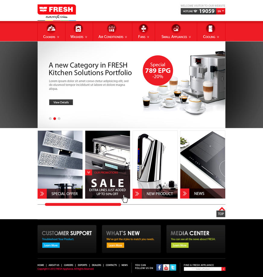 Fresh egypt appliance home page by maieltouny on deviantart for Fresh home appliances