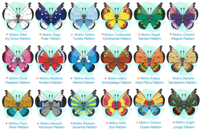 Vivillon All Around The World By Rolo40 On DeviantArt Fascinating Vivillon Patterns