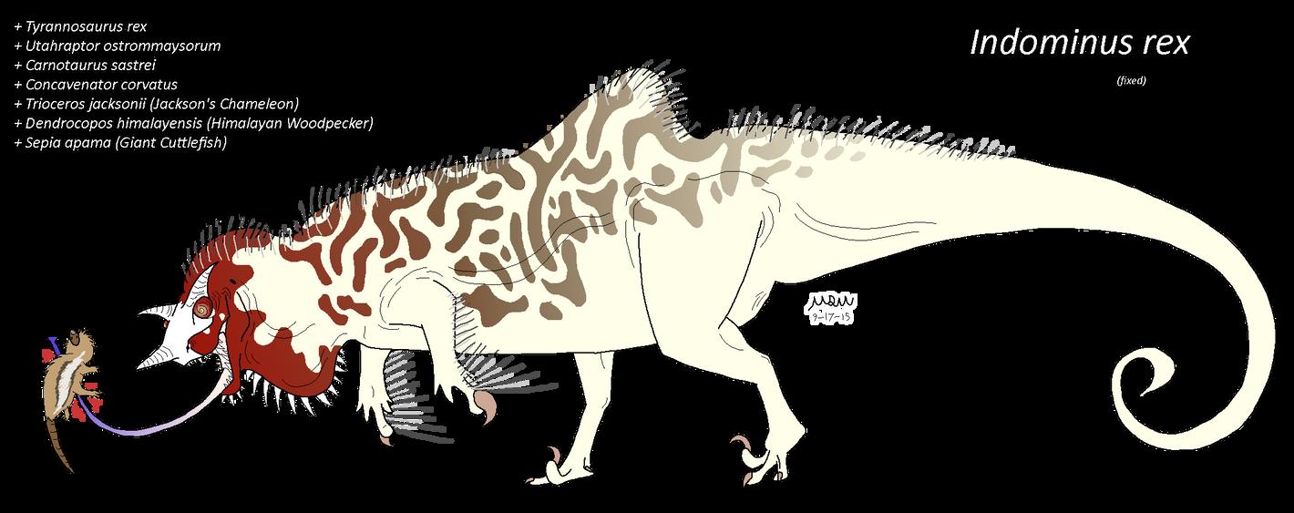 indominus rex fixed by matthewonart on deviantart