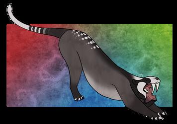 [Palaeoart] Thylacosmilus by MatthewOnArt