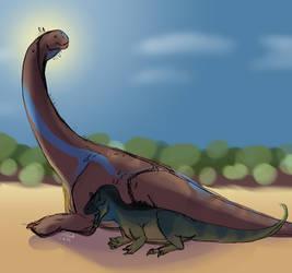 [Palaeoart] Dinovember: It's Too Hot by MatthewOnArt