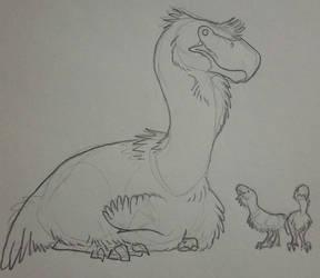 [Palaeoart] Dinovember: Papa Titanis by MatthewOnArt
