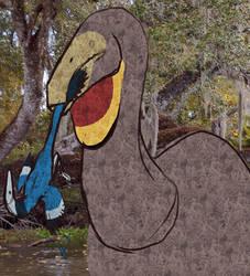 [Palaeoart] Dinovember: Harassed by Swamp Thing by MatthewOnArt