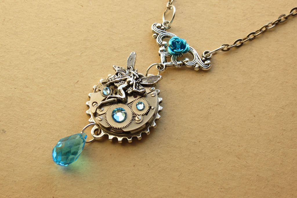 Steampunk fairy necklace by lsunique on deviantart steampunk fairy necklace by lsunique aloadofball Image collections