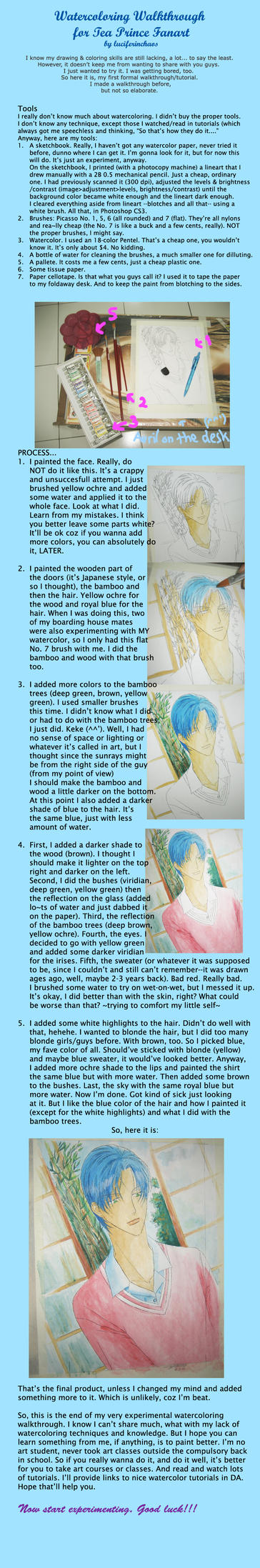 Reiichi Watercolor Walkthru 1 by luciferinchaos