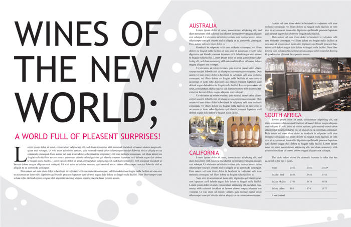 magazine layout samples