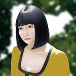 Momo from twice fan art by Feduchok