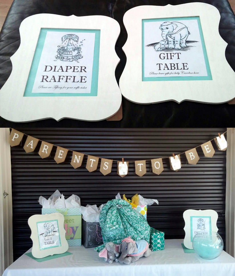 Baby Shower Table With Dumbo Drawings By Arielaguire On Deviantart
