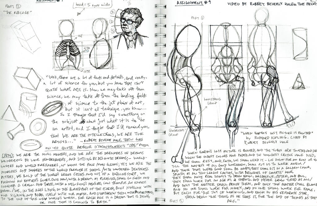 2015 Robert Beverly Hale Sketches and Notes 2 of 6 by arielaguire on ...