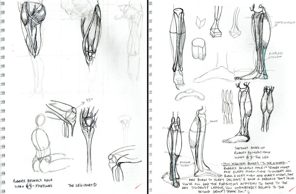 2015 Robert Beverly Hale Sketches and Notes 3 of 6 by arielaguire on ...