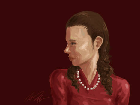Speed painting - Lady in Red by Anlina