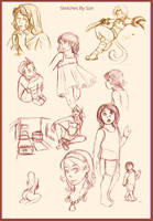 Miscellaneous Sketches again by Sori-Chan