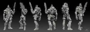 Space mercenary model