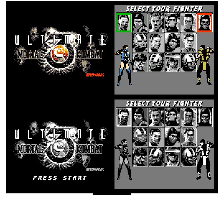 Ultimate MK3 8-bit demake by z80artist