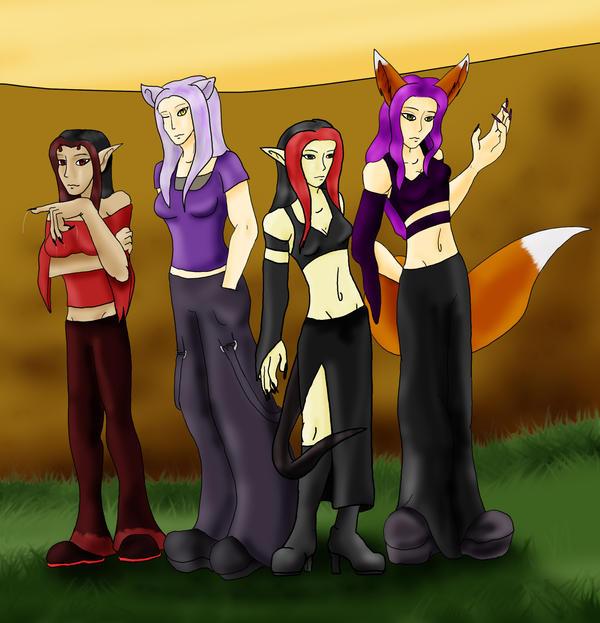 The Chibi Girls Gang by LuciferDragon