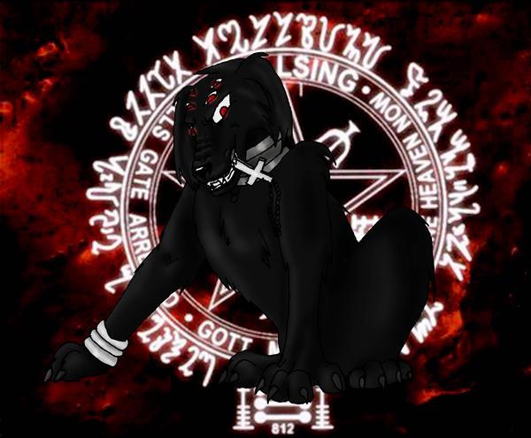 Hell Hound Alucard by LuciferDragon