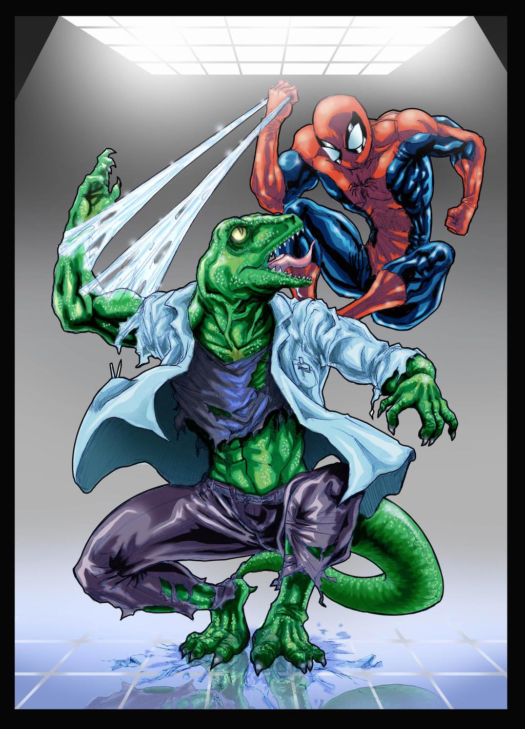 Lizard vs Spider-Man by sonicboom35 on DeviantArt
