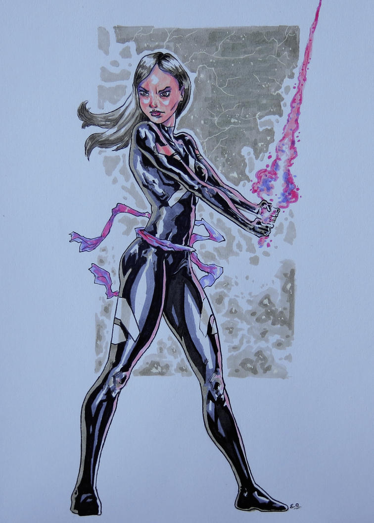 Marvel Psylocke Art Psylocke with markers ...