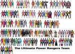 The Ultimate Power Rangers Team