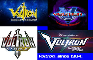Voltron Logo Evolution by AdrenalineRush1996