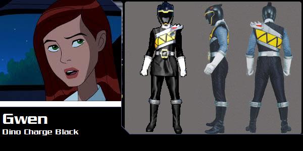 Gwen Tennyson as DC Black (Toku Unlimited) by AdrenalineRush1996