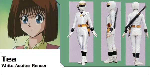 Tea Gardner as White Aquitar Ranger (Toku UP) by AdrenalineRush1996