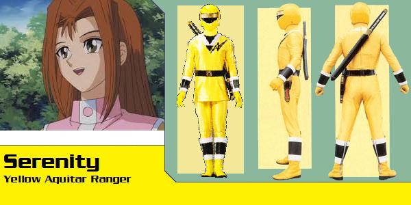 Serenity Wheeler as Yellow Aquitar Ranger (TUP) by AdrenalineRush1996