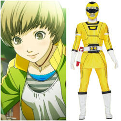 Chie Satonaka as Yellow Turbo Ranger (Toku UP) by AdrenalineRush1996