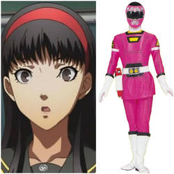 Yukiko Amagi as Pink Turbo Ranger (Toku Unlimited) by AdrenalineRush1996