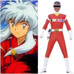 Inuyasha as Red Space Ranger (Toku Unlimited) by AdrenalineRush1996