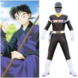 Miroku as Black Space Ranger (Toku Unlimited) by AdrenalineRush1996