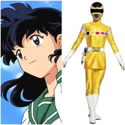 Kagome Higuarshi as Yellow Space Ranger (Toku UP) by AdrenalineRush1996