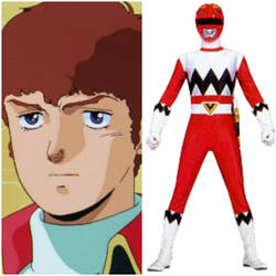 Amuro Ray as Galaxy Red (Toku Unlimited Project) by AdrenalineRush1996