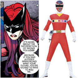 Kate Kane as Red Space Ranger (Toku Unlimited)