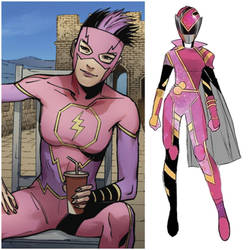 Avery Ho as Pink Solar Ranger (Toku Unlimited)