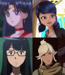 Four Characters Voiced by Cristina Valenzuela