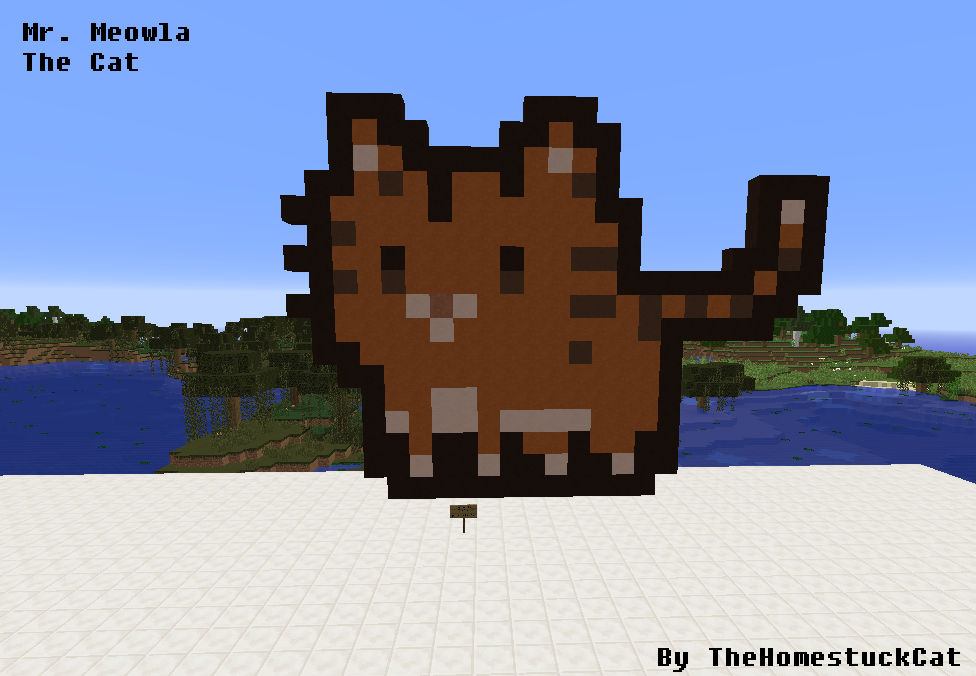 Marvelous Mr. Meowla The Cat   Pixel Art   Minecraft By TheHomestuckCat ...