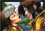 Rogue loves Gambit by ryanorosco