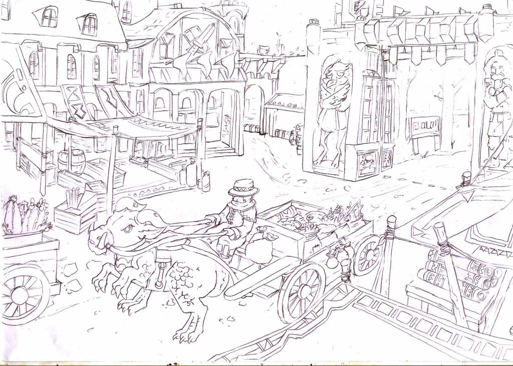 Scene Exercises: Market of the east gate by ThankU830309