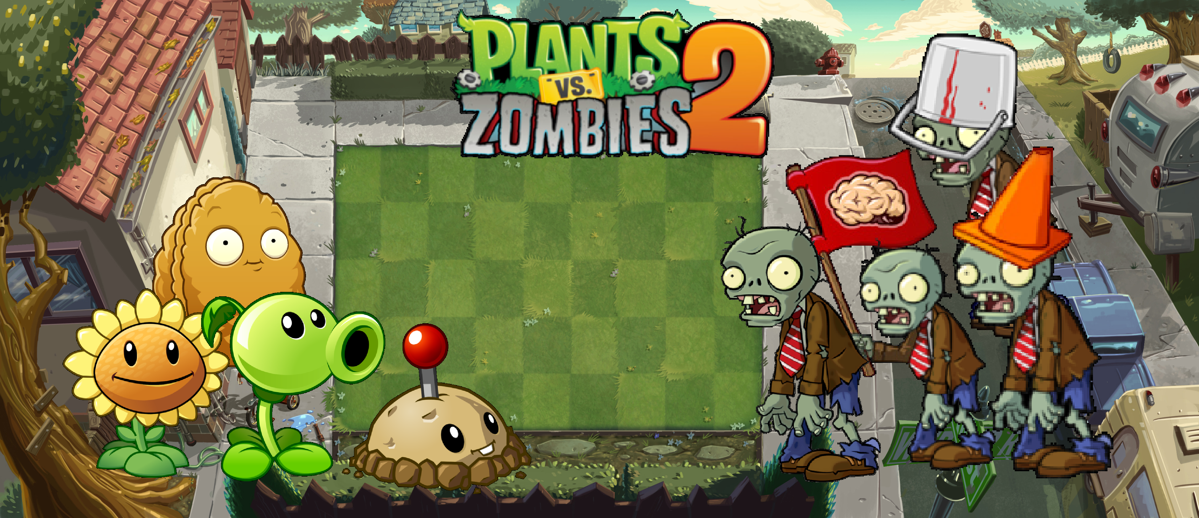 Plants Vs Zombies 2 Player S House Wallpaper By Photographerferd