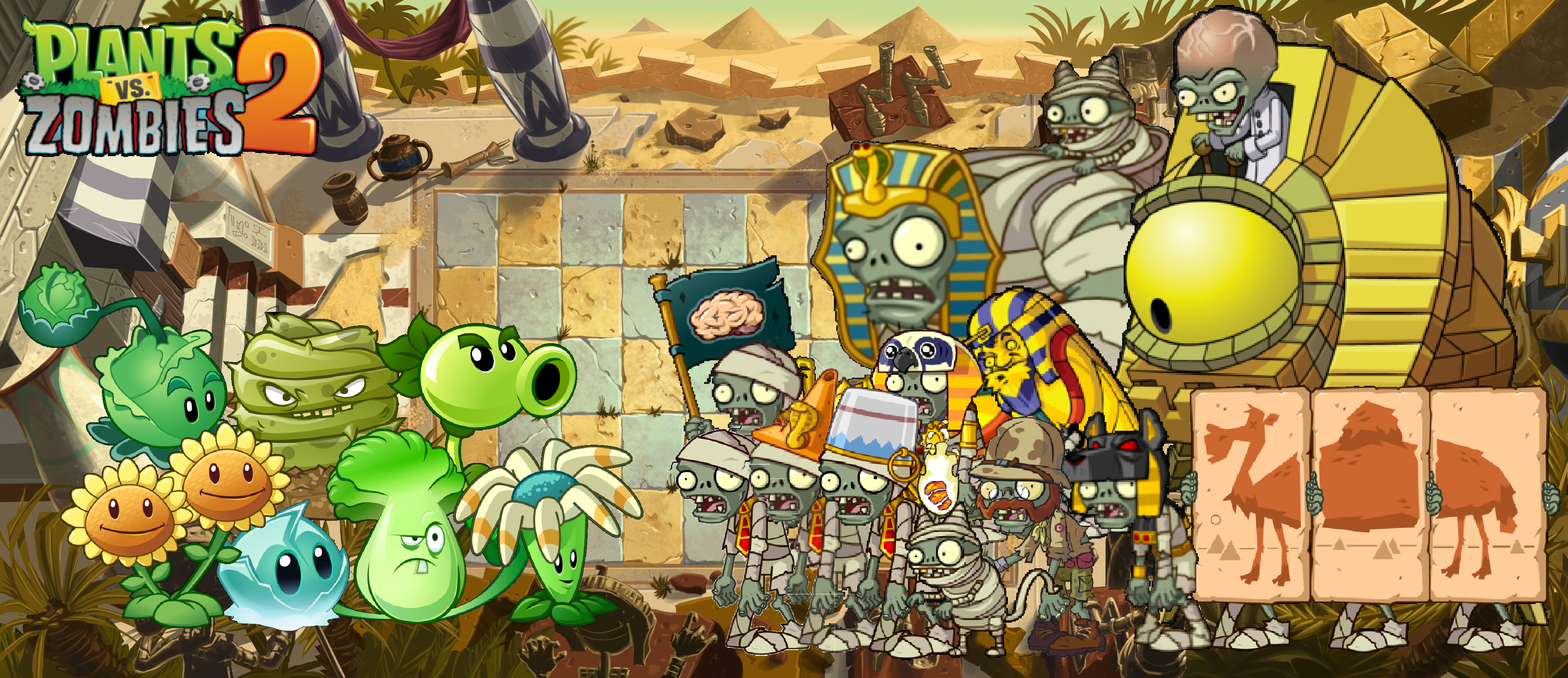 Plant Vs Zombies 2 Wallpaper: Plants Vs Zombies 2 Ancient Egypt Wallpaper By