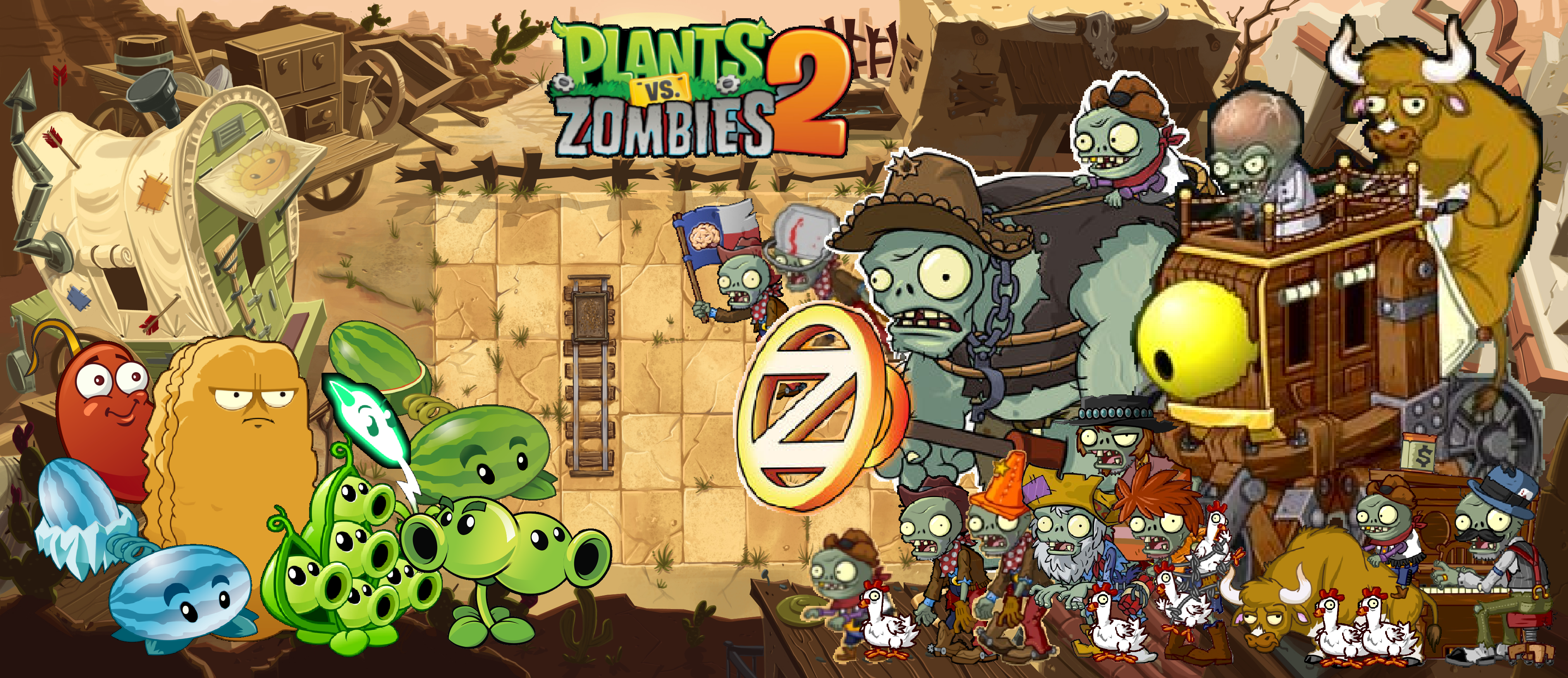 Plants Vs Zombies 2 Wild West Wallpaper By Photographerferd On