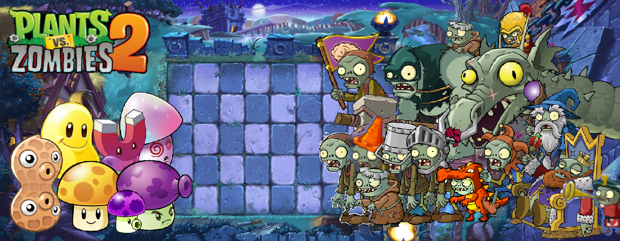 Plants Vs Zombies 2 Dark Ages Wallpaper By Photographerferd On